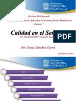 Calidad en El Servicio_iris Sanchez