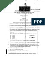 Cape Chemistry - Unit 1 Paper 1 2011