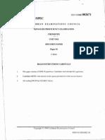 Cape Chem Unit 01 Paper 01 Specimen