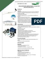 ANALIZADOR DE VIBRACIONES Y COLECTOR DE DATOS MA-2070-C _ Medición de amplitud global de vibración de las tres magnitudes - Ideal para implementar rutinas de mantenimiento predictivo