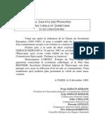 UIGSE-FSE Charte des principes naturels et chrétiens