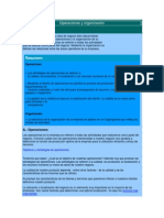 Operaciones y organización
