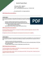 quarterly progress report qt 1 2014