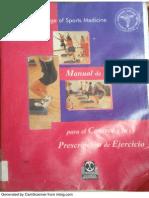 Manual de Consulta- Prescripcion Del Ejercicio American Collee of Sports Medicine