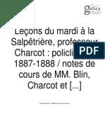 Charcot-Lecons du mardi à la Salpêtrière (1887-1888)