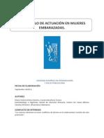Protocolo SESPO. Actuacion en Mujeres Embarazadas