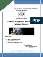 Etude et diagnostic des marchés internationaux
