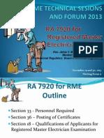 RME RA 7920 for RME Engr. JMendoza