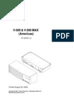 V-500, V-500 MAX - Americas (52763-18-PM Rev 1)