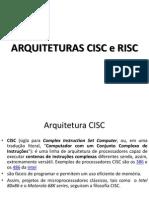 CISC e RISC