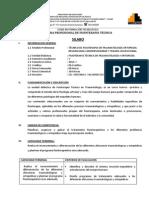 Programación de unidad didactica traumatología