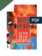 Scott Card Orson - La Voz de Los Muertos