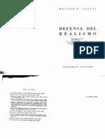 Agosti - Defensas Del Realismo
