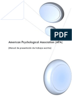 Manual American Psychological Association (APA)