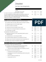 Checklist CDM TCA