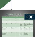 CALENDARIO DE ATIVIDADES IGUAÇU outubro