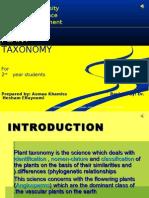 TAX 1 Plant Taxonomy