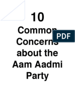 10 Common Concerns About the Aam Aadmi Party