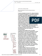 BORGES, C.  Breve cronologia do conceito de desenvolvimento sustentável