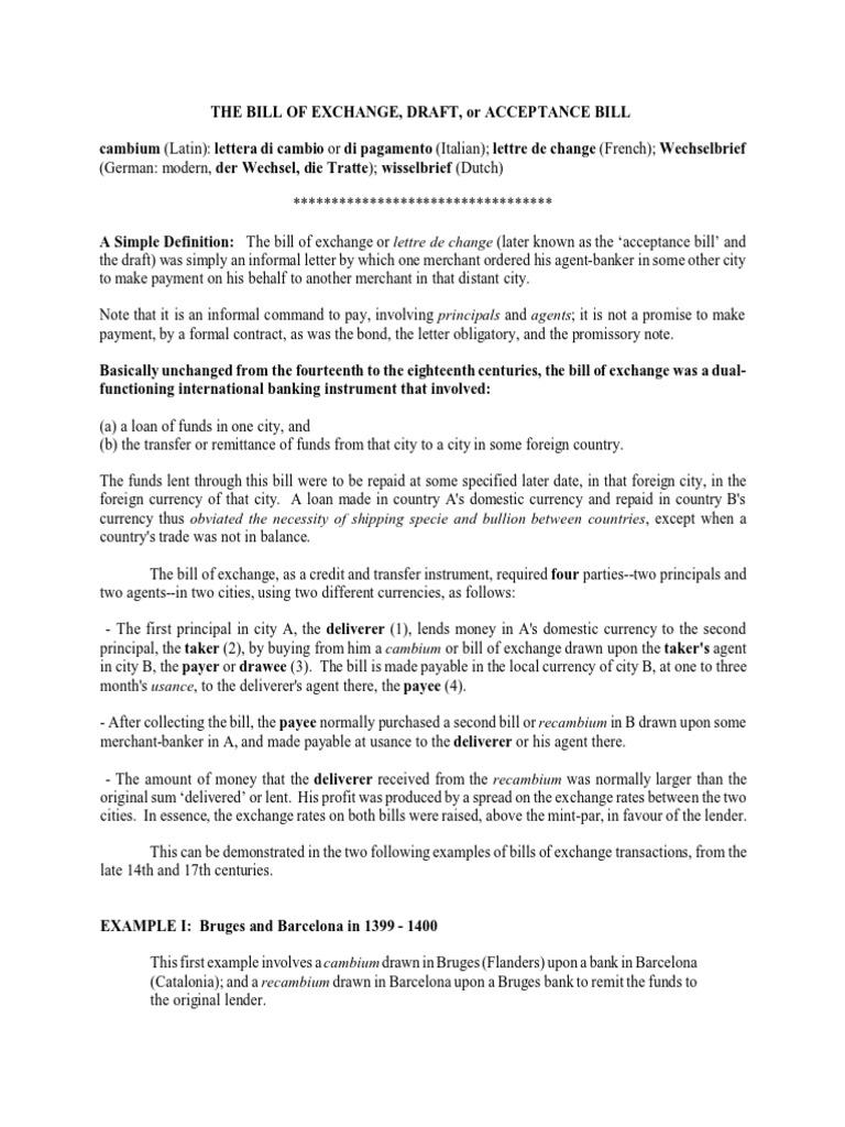 Bill of exchange sample negotiable instrument payments altavistaventures Gallery