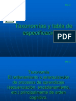 2 Taxonomias y Tabla de Especificaciones