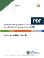 Distribución geográfica América Latina y Caribe