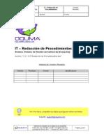 1.3.1.0 IT Redacción de Procedimientos