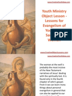 Youth Ministry Object Lesson - Lessons for Evangelism of Youth - The Samaritan Woman