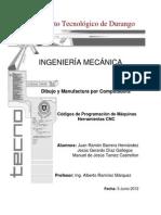 Códigos de programación  de máquinas herramientas CNC