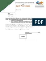 Surat Pernyataan ITS IO Essay Competition