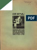 De Stijl Vol 1 No 1 Delft October 1917