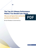Top 20 Vmware Performance Metrics