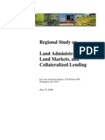 Regional Study on Land Administration, Land Markets and Collateralized Lending