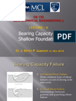Lecture 8.0 Bearing Capacity of Shallow Foundation