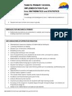 implementation plan - mathematics and statistics