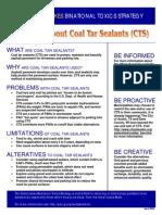 Great Lakes Coal Tar Sealer Fact Sheet