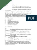 Arrivals Checklist