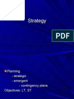 Planning - Strategic - Emergent - Contingency Plans Objectives
