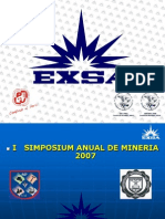 Taladros Largos i Simposium Nacional Piura Exsa 2007