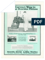 1925 - The Correct Way to Machine Oversize Pistons - Bulletin No 85