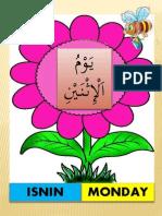 Hari Seminggu Arab Melayu Inggeris