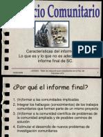 Caracteristicas Informe Final 19-02-2009