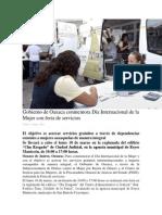 07-04-14 oaxaca.me Gobierno de Oaxaca conmemora Día Internacional de la Mujer con feria de servicios
