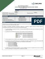 Acta de Primera Reunión de sesion de diseño de AD DS 2008 - MILPO - Proyecto Upgrade AD 2008 y Exchange 2010 - 220910v1.0