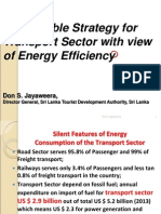 Sustainable Strategy for the Transport Sector with view of Energy Efficiency