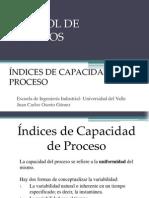 Control de Procesos. Índices de Capacidad