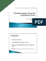 carlameireles-Transformações Físicas de substâncias Puras