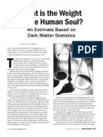 What is the Weight of the Human Soul
