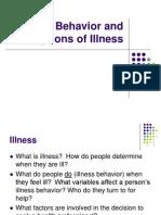 4. Illness Behavior and Perceptions of Illness