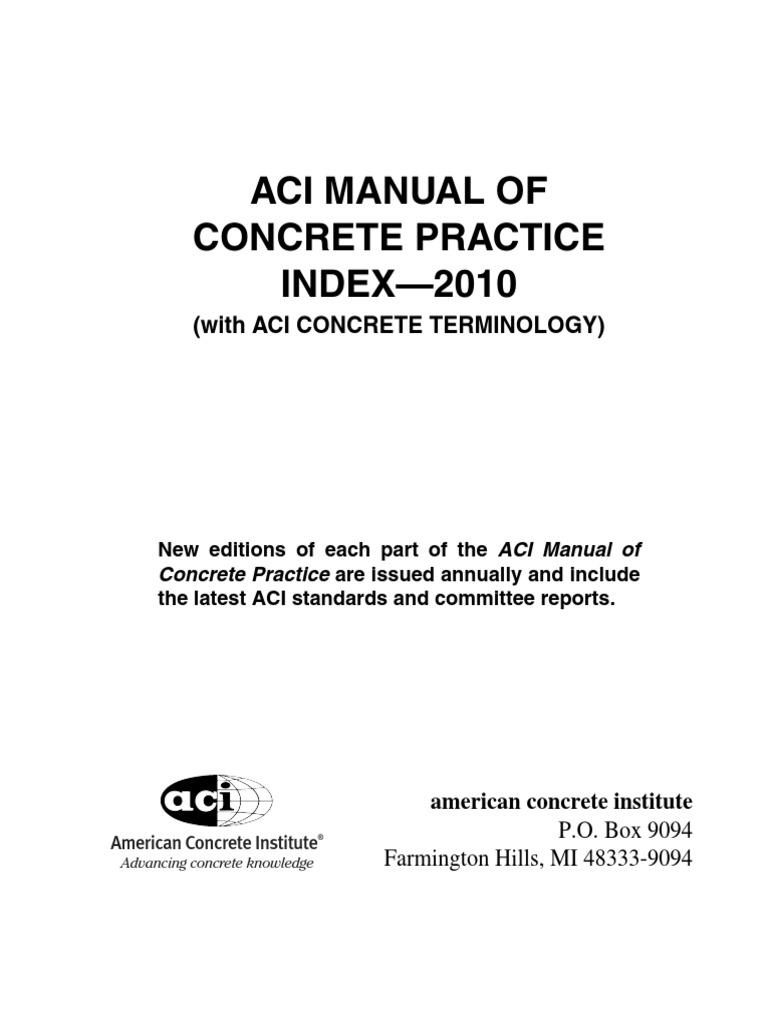 64033854 aci manual of concrete practice index2010 64033854 aci manual of concrete practice index2010 prestressed concrete concrete xflitez Images